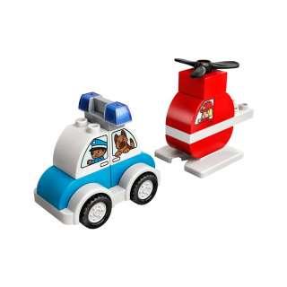 LEGO DUPLO MY FIRST VATROGASNI HELIKOPTER I POLICIJSKI AUTOM