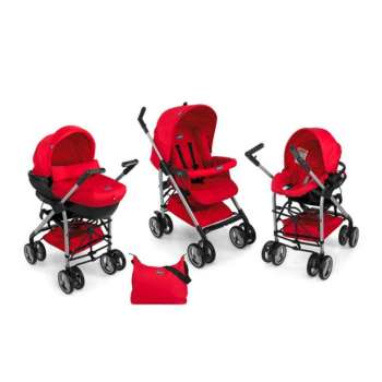 CHICCO KOLICA PLUS AUTO SEDISTE PLUS NOSILJKA TRIO SPRINT RED WAVE   CRVENO