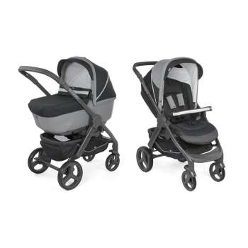 CHICCO KOLICA DUO STYLE GO UP, JET BLACK