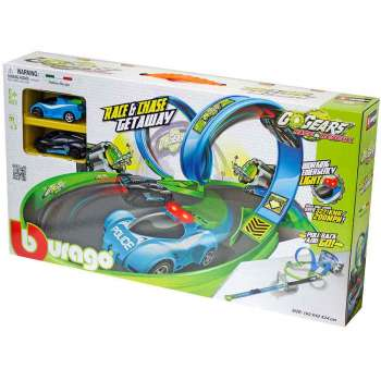 BURAGO GO GEARS RACE & CHASE GETAWAY PLAYSET, INCL. 2 CARS, TRY ME