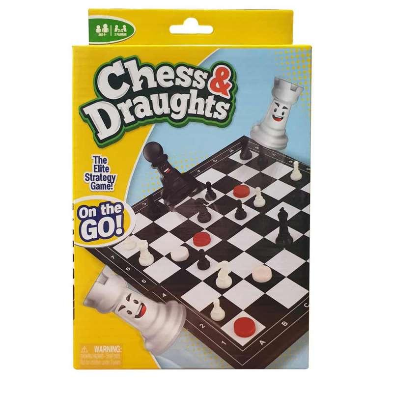 FUNVILLE DRUSTVENA IGRA CHESS DRAUGHTS - ON THE GO