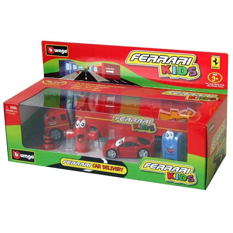 BURAGO FERARI KIDS 1 43 LIGHT SOUND CAR DELIVERI